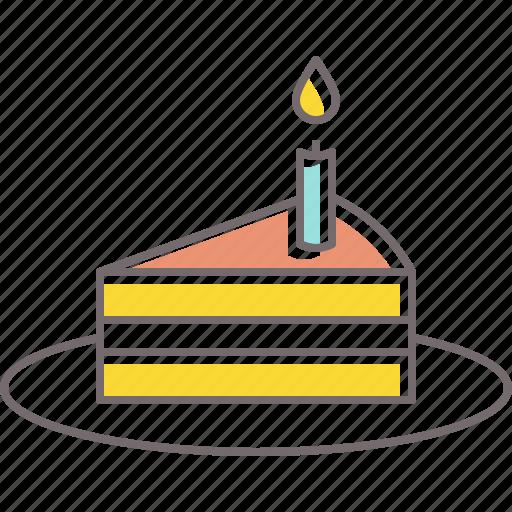 birthday, cake, candle, celebration, dessert, sweets icon