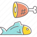 fish, food, fresh, healthy, meal, meat icon