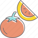 food, fruit, garden, lemon, lime, tomato, vegetable icon