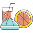 beverage, drink, fresh, juice, lemon, lime, squeeze icon