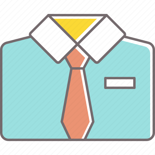 clothes, collar, men, office, pocket, shirt, tie icon