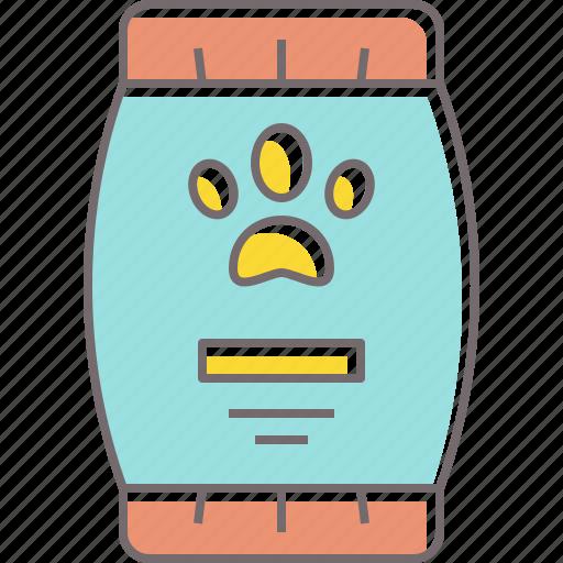 bag, cat, dog, food, paw, pet, print icon