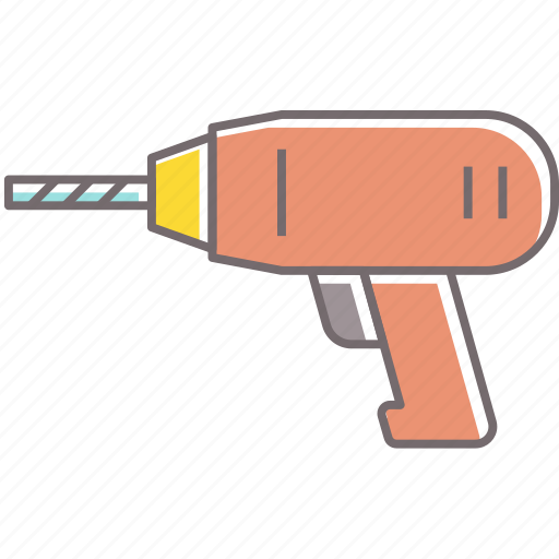construction, drill, electrical, rennovation, tool icon