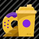 coffee, donut, bread, food, shop