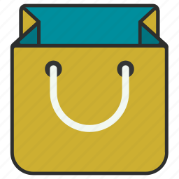 bag, gift bag, package, paper bag, present, shop, shopping icon