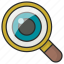 find, glass, look up, magnifier, magnifying, search icon