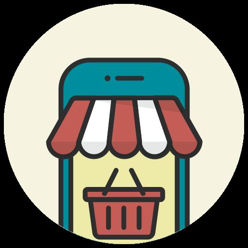 buy online, ecommerce, mobile, online shop, phone, shop, shopping basket icon