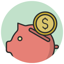coin, money, pig, piggy bank, saving icon