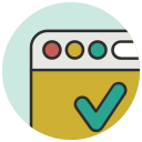 approval, approve, browser, confirm, confirmation, seo, valid icon