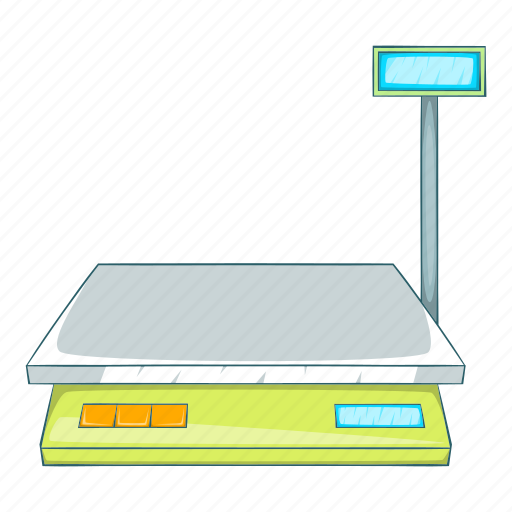 Analysis, appliance, balance, bench scales, cartoon, device, illustration icon - Download on Iconfinder
