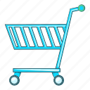 blue, buy, illustration, shopping cart, sign, supermarket icon