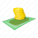 business, coins, dollar, gold, illustration, isometric, money icon