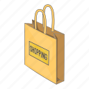 illustration, isometric, market, paper, shop, shopping bag icon