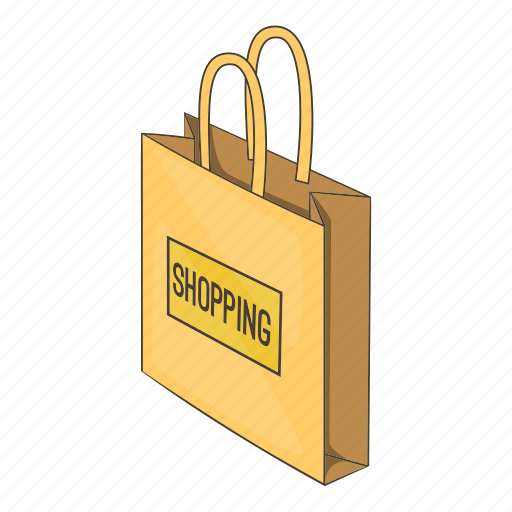 Illustration, isometric, market, paper, shop, shopping bag icon - Download on Iconfinder