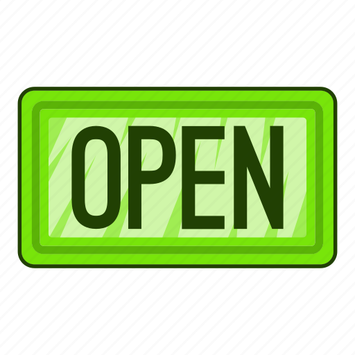 Hanging, illustration, market, nameplate open icon, open, sign icon - Download on Iconfinder