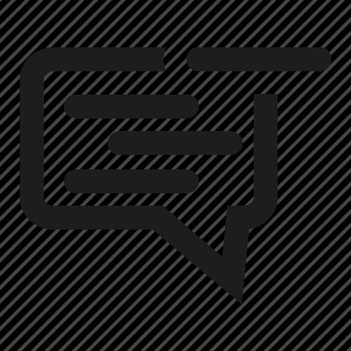 chat, comment, communication, delete, list, speech, text icon