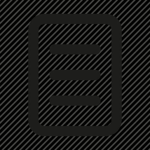 clipboard, document, file, files, format, list, menu icon
