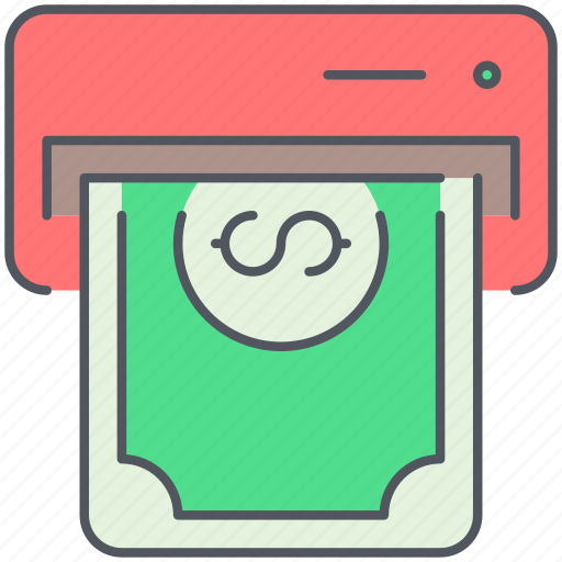 atm, bank, banknote, cash, payment, shopping, withdrawal icon