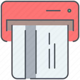 atm, bank, card, credit card, payment, shopping, withdrawal icon