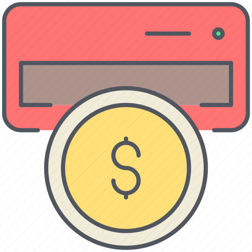 atm, bank, cash, coin, payment, shopping, withdrawal icon