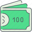 banknotes, cash, dollars, ecommerce, money, payment, shopping icon