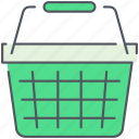 basket, cart, ecommerce, market, shopping, shopping cart, store icon
