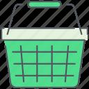 basket, cart, ecommerce, market, shopping, shopping cart, store icon