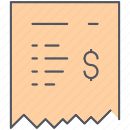account, bill, check, ecommerce, invoice, payment, shopping icon