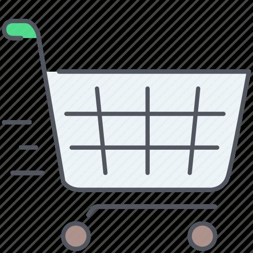 bag, basket, cart, ecommerce, shopping, shopping cart, supermarket icon