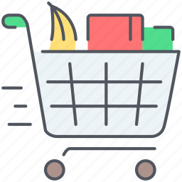 basket, cart, ecommerce, groceries, shopping, shopping cart, supermarket icon