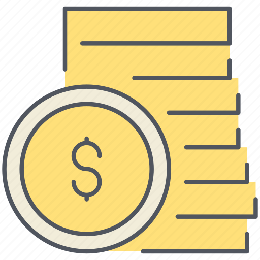 cash, coins, dollar, ecommerce, finance, interest, shopping icon