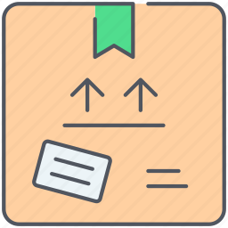box, delivery, fragile, logistics, package, present, shipping icon