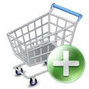 add, ecommerce, shopping cart, webshop icon