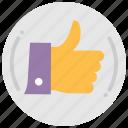 favorite, hand, like, socal media, thumbs up, wishlist icon
