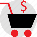 cart, dollar, holiday, savings, season, shopping, sign icon