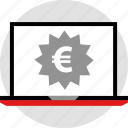 ecommerce, euro, online, shop, shopping icon