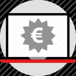 ecommerce, euro, online, shop, shopping icon