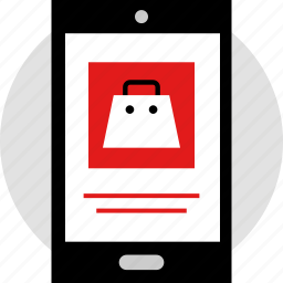 ecommerce, mobile, online, shop, shopping icon