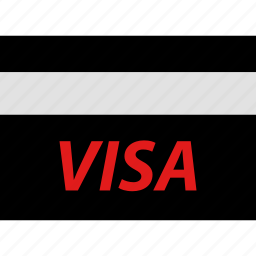 ecommerce, online, shop, shopping, visa icon