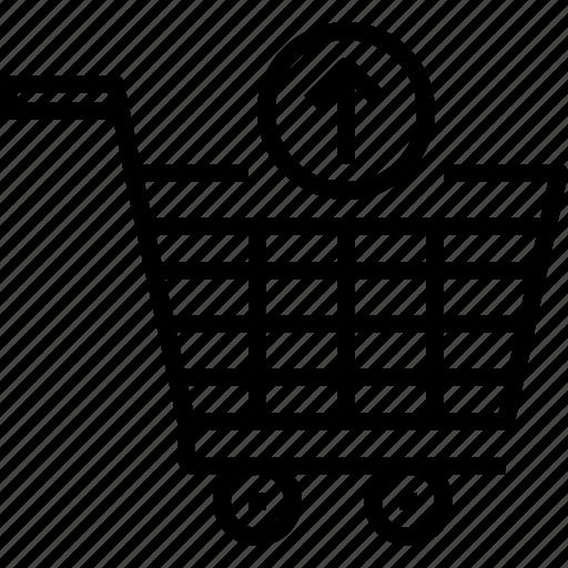 arrow, cart, commerce, e-commerce, sale, shop, shopping icon