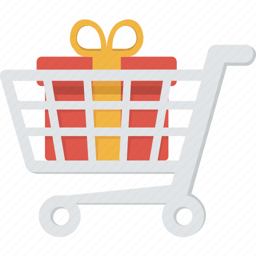 buy, cart, ecommerce, gift, order, present, purchase, sale, shipping, shop, shopping, surprise, trolley icon