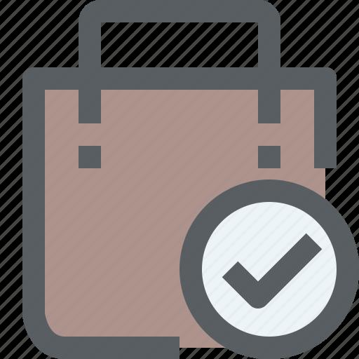 bag, check, market, shop, shopping, store icon