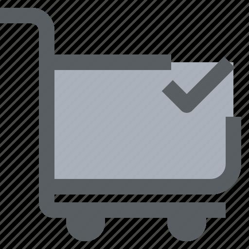 cart, check, market, shop, shopping, store icon