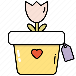 flower, flowerpot, shop, shopping icon