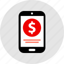 dollar, ecommerce, mobile, online, shop, shopping icon