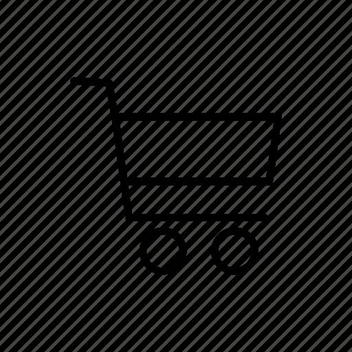 basket, cart, ecommerce, line, shopping icon