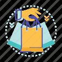 bag, cart, hand, sale, shop, shopping