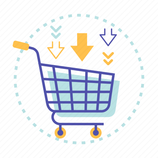 add, cart, discount, shopping icon