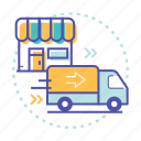 car, delivery, fast, shop, shopping, transportation icon