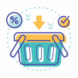 add, basket, buy, discount, ecommerce, shopping icon